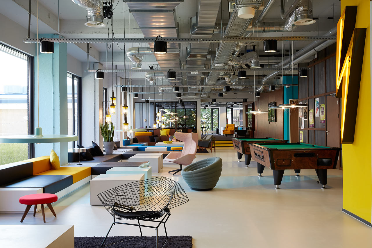 Lịch sử của thiết kế văn phòng The-Student-Hotel-Amsterdam