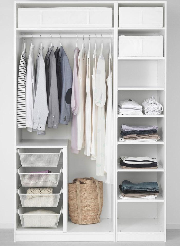 Tủ quần áo gỗ công nghiệp Ikea